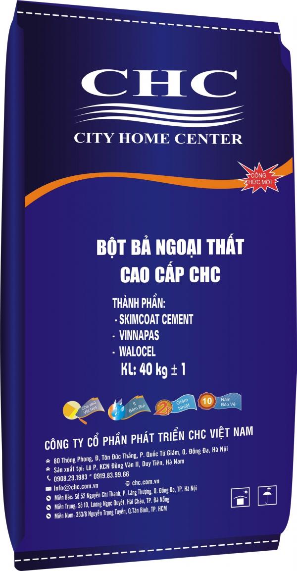 BỘT BẢ NGOẠI THẤT CAO CẤP CHC 40KG